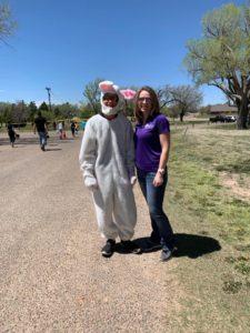 FNB Dalhart Community Egg Hunt Easter Bunny